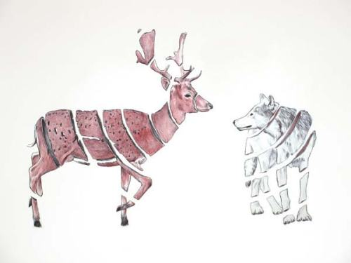 Emptyland-ribbon-effect-animal-drawing-by-Jaume-Montserrat-424671535